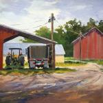 "BOHLMAN, TINA Waxahachie, Texas   ""Between Jobs'   12x12 - Oil"