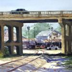 BOHLMAN, TINA Waxahachie, Texas  The Viaduct   12x16 - Watercolor