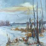 McMahon_Kathryn_A_ Winter Sun_ oil_ 16x12