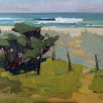 "Levine, Sherrie Russ     ___ "" Litchfield by the Sea ""   ___Oil on Canvas 8 x 10    Sold"