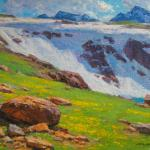 "Mueller  Ned_ --"" Beartooth Spring ""  Oil _ 12x16 _ $ 2500"