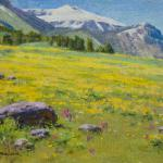 "Mueller  Ned _ "" Golden Meadow-Beartooths "" _ 9x12 _ $ 1400"