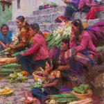 "Ned Mueller_ "" Morning Market - Guatemala "" -9x12_Sold"