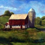 "Ruth Cox    ___ "" Pennsylvania Barn "" ____ oil 12x16"