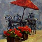 "Ruth Cox    ____ ""  Sidewalk Cafe ""    ____ oil 11 x 14"