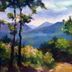 "Ruth Cox ___ "" View from Mountain House ""  ___ oil 9 x 12"