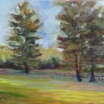 STRACK, ANNIE - Fenceline at Cloverdale - 8 x 10 oil