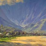 "BOURET, PIERRE ""Hanalei_Beauty"" _24x36_ oil Princeville, Hawaii Website:artkauai,com"