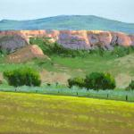 "CHURCHLEY, BARBARA "" Spring on the Ranch ""_ pastel__12 x 12"