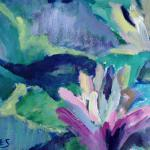 HOLMES, CAROLINE NUCKOLLS Lilies, Too Acrylic and Watercolor Paintings