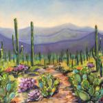 "HUGHES, CHERYL   ____ ""Tucson Afternoon"" ___ 22 x 12 oil on panel"