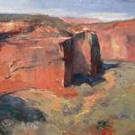 "JOHNSON, MICHAEL CHESLEY__ ""Down Below "" ___ oil __ 9 x 12"