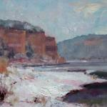"JOHNSON, MICHAEL CHESLEY__ "" Lake Snow "" ___ oil __ 9 x 12"
