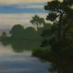 "O'Leary, Kathy                  __ "" Morning At The slough ""  _  oil painting"