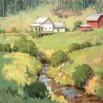 "ROPER, STUART __""Turkey Creek Morning"" 18x18 oil on panel  from one of my favorite locations when I lived near Asheville, NC."
