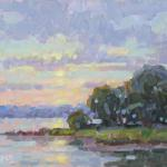 ROPER, STUART__Turkey  Cove Sunset __oil on Linen__ 8 x 10