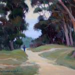 "RIFFENBURGH, GERRYE ""A Walk at Dawn 12 x 16 oil in memory of our member"