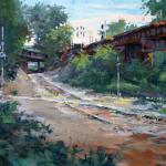 Summers, R. Gregory  __ RVA  Bound Train  __ Oil Painting