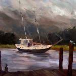 "Ruth Cox   ___ ""  Safe Harbor "" ___ oil 11 x 14"