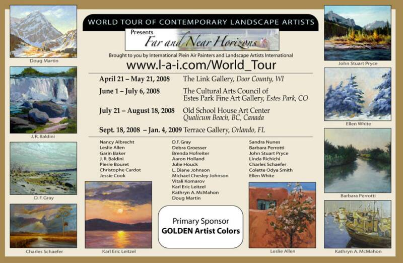 World Tour of Contemporary Landscape Painters schedule